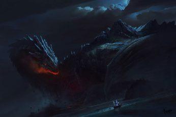 Wallpaper Black Dragon Wallpaper, Fantasy Art, Ship