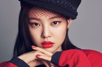 Wallpaper Blackpink, Girl, Kpop, Jennie, Red, Portrait