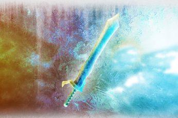 Wallpaper Blue Sword Digital Art, Roblox