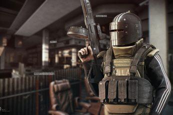 Wallpaper Boss, Machine Gun, R.2028, Russia 2028, Wild