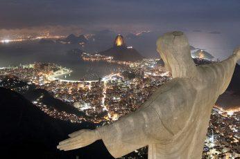 Wallpaper Christ The Redeemer, Rio De Janeiro, Cityscape