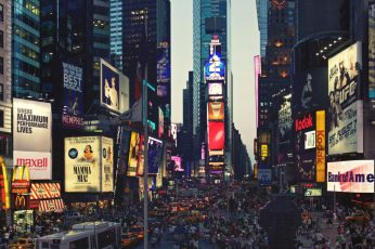 Wallpaper City Landscape, New York Times Square, Cityscape