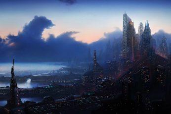 Wallpaper City Of High Rise Building Digital Wallpaper