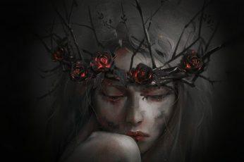 Wallpaper Dark Fantasy, Fantasy Art, Face, Fantasy Girl