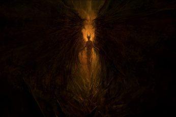 Wallpaper Demon, Wings, Satan, Lucifer, Hell, Artwork