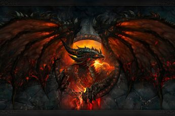 Wallpaper Fire Dragon Wallpaper, World Of Warcraft
