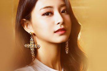 Wallpaper Girl, Kpop, Tzuyu, Twice, Group, Cross