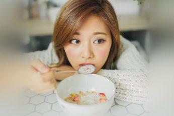 Wallpaper Girl, Kpop, Tzuyu, Twice, Portrait, Childhood