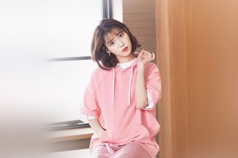 Wallpaper Iu, Girl, Pink, Kpop, Singer, Asian, Celebrity