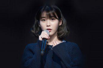 Wallpaper Iu, Jieun, Kpop, Girl, Dark, Cute, Portrait