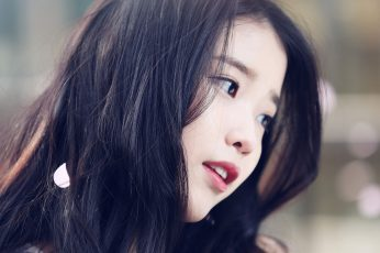 Wallpaper Iu, Kpop, Beauty, Girl, Singer, Headshot