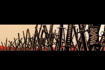 Wallpaper Katana Lot Illustration, Samurai, Sword, Fantasy