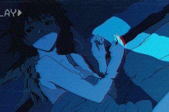 Wallpaper Lofi Female Anime Character, Neon Genesis Evangelion