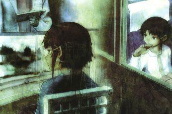 Wallpaper Lofi Serial Experiments Lain, Lain Iwakura, Anime Girl