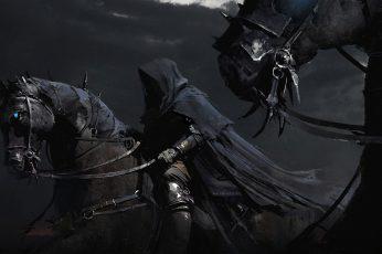 Wallpaper Man Wearing Black Robe Ride On Horse