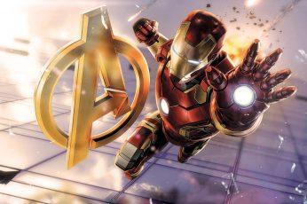 Wallpaper Marvel Avengers Iron Man Digital