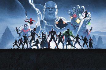Wallpaper Marvel Cinematic Universe, Avengers Endgame