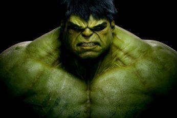 Wallpaper Marvel Hulk Illustration, Black Background