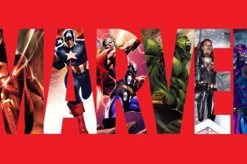 Wallpaper Marvel Iron Man Red Captain America Thor Hulk