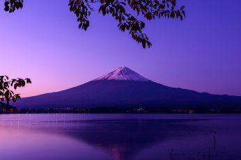 Wallpaper Mount Fuji, Japan, Landscape, Calm Waters