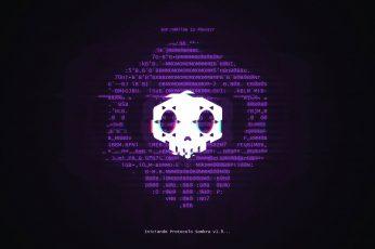 Wallpaper Overwatch, Sombra, Hacker, Logo, Games