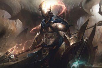 Wallpaper Pantheon League Of Legends, Riot Games, Skin