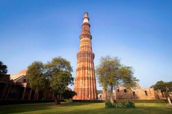 Wallpaper Qutb Minar, India, Qutub Minar, Delhi Monument