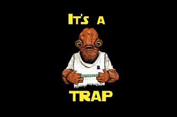 Wallpaper Star Wars, Admiral Ackbar, It's A Trap 1920×1080