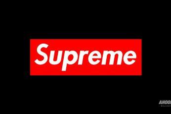 Wallpaper Supreme Logo, Brand, Red, Text