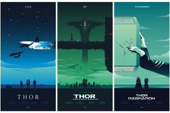 Wallpaper Thor God Of Thunder Collage Illustration