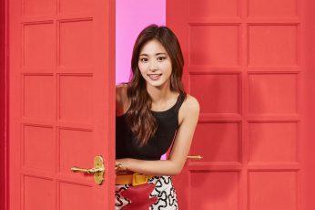 Wallpaper Twice, Girl, Tzuyu, Red, Music, Kpop, Aisan