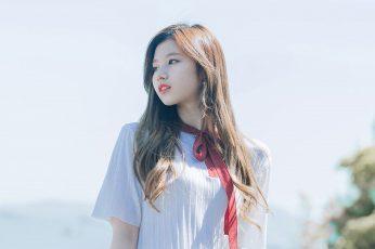 Wallpaper Twice, Sana, Girl, Cute, Kpop, Long Hair