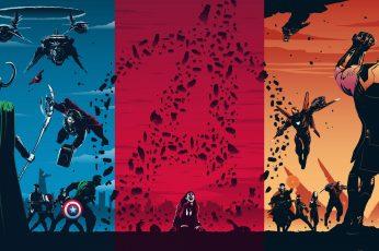 Avengers trilogy poster wallpaper