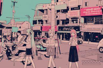 Anime Retro Aesthetic Desktop Wallpaper