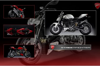 Wallpaper 3d Abstract Ducati Streetfighter Motorcycles
