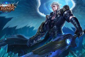Wallpaper Alucard, Wings, Angel, Game, Man, Mobile Legends