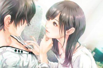 Wallpaper Anime Couple, Romance, Semi Realistic, Cute