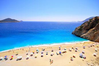 Wallpaper Antalya, Türkiye, Kaputaş Beach, Turquoise
