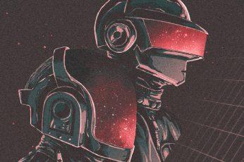 Wallpaper Artistic, Retro Wave, Daft Punk