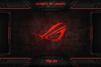 Wallpaper Asus Rog Logo, Red, Game, Technology, Computer