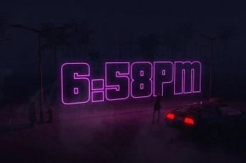 Wallpaper Auto, Night, Music, Time, Machine, Style