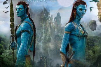 Wallpaper Avatar, Blue Skin, James Cameron's Movie