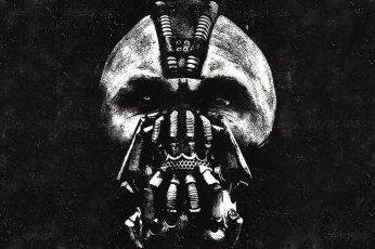 Wallpaper Batman The Dark Knight Rises Bane Bw Hd, Movies