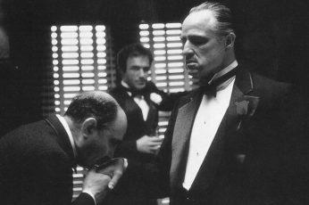 Wallpaper Black Suit Jacket, The Godfather, Monochrome