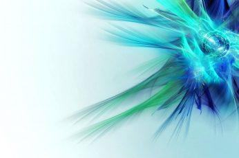 Wallpaper Blue And Green Abstract Illustration, Digital Art