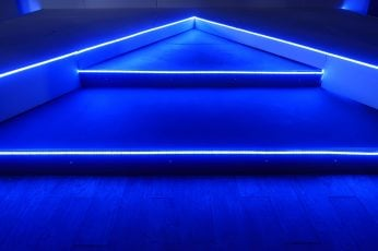 Wallpaper Blue Led Strip, Blue Neon Lights, Abstract
