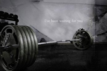 Wallpaper Bodybuilding Quote, I've been waiting for you