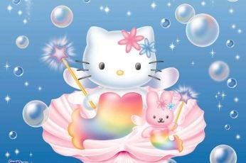 Wallpaper Bubbles Hello Kitty Mermaid In A Shell Anime