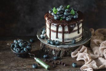 Wallpaper Cake, Berries, Food, Chocolate, Blueberries