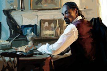 Wallpaper Calvin Broadus, Musician, Painting, Artwork
